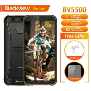 Boost Blackview Original BV5500 3G 5.5″ IP68 Waterproof Rugged Smartphone 2GB+16GB Android 8.1 Dual SIM 4400mAh 18:9 Outdoor Mobile Phone 3G