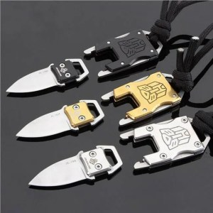FREE SHIPPING Outdoor Camping Survival Multi Functional Transformer Knife EDC Tactical With Packet Knife Self Defense Camping
