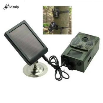 FREE SHIPPING Outdoor Solar Panel Charger US/EU Plug Hunting Trail Camera Charger For Suntek HC-300M HC300 HC-500m Hunting Camera camera