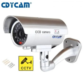 FREE SHIPPING Waterproof Dummy Fake CCTV Camera With Flashing LED For Outdoor or Indoor Realistic Looking fake Camera for Security camera