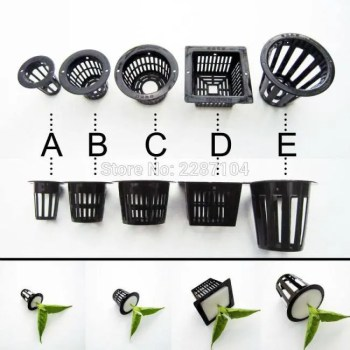 FREE SHIPPING 10pcs Black Mesh Pot Net Cup Basket Hydroponic Aeroponic System Plant Grow Organic Green Vegetable Clone Cloning Seed Germinate Basket