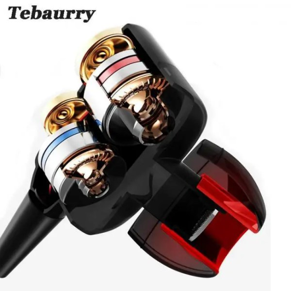 Hear TEBAURRY Double Unit Drive In Ear Earphone Bass Subwoofer Earphone for phone DJ mp3 Sport Earphones Headset Earbud auriculares Free shipping