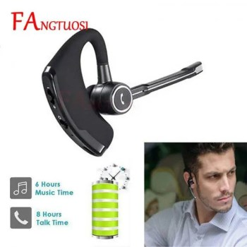 FREE SHIPPING FANGTUOSI Business Bluetooth Headset Car Bluetooth Earpiece Hands Free with mic ear-hook Bluetooth Wireless Earphone for iPhone Free shipping
