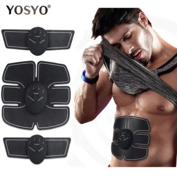 FREE SHIPPING EMS Wireless Muscle Stimulator Trainer Smart Fitness Abdominal Training Electric Weight Loss Stickers Body Slimming Belt Unisex Abdominal
