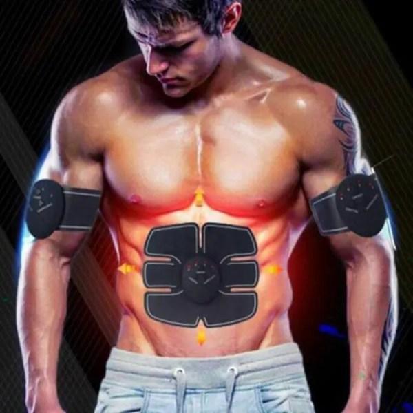 FREE SHIPPING EMS Wireless Muscle Stimulator Trainer Smart Fitness Abdominal Training Pulser Abdominal
