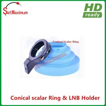 FREE SHIPPING Conical Scalar ring with C Band LNB Holder bracket 65MM diameter c-band