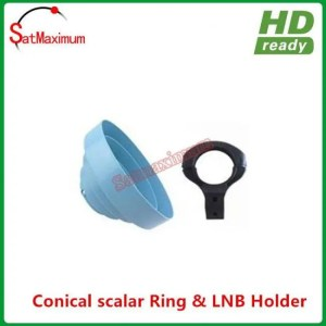 FREE SHIPPING Conical Scalar ring with C Band LNB Holder bracket 65MM diameter 65MM