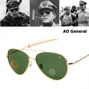 Car & Motorbike JackJad Army MILITARY MacArthur Aviation Style AO General Sunglasses American Optical Glass Lens Men Sun Glasses American