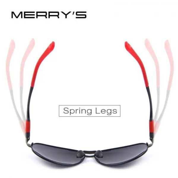 Car & Motorbike MERRYS DESIGN Men Classic Pilot Sunglasses HD Polarized Sunglasses For Driving Aviation Alloy Frame Spring Legs UV400 S8404 American