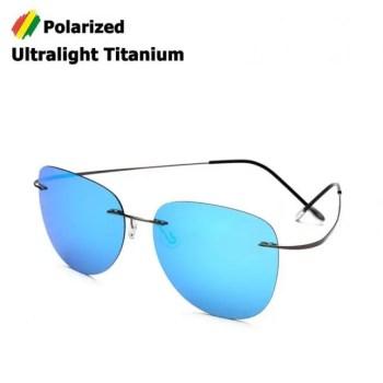 FREE SHIPPING JackJad New Fashion Men Driving Ultralight Titanium Polarized Sunglasses Brand Design Rimless Aviation Sun Glasses Oculos De Sol American
