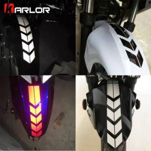 Car & Motorbike Motorcycle Reflective Stickers Wheel on Fender Waterproof Safety Warning Arrow Tape Car Decals Motorbike Decoration Accessories Accessories