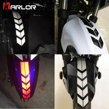 FREE SHIPPING Motorcycle Reflective Stickers Wheel on Fender Waterproof Safety Warning Arrow Tape Car Decals Motorbike Decoration Accessories discount