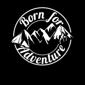 FREE SHIPPING Cool Graphics Born For Adventure Vinyl Decal Sticker Car Caravan Camper Van Car Accessories Motorcycle Helmet Car Styling 3D