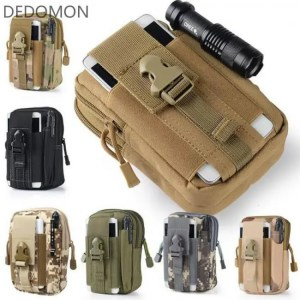 FREE SHIPPING Tactical Molle Pouch Belt Waist Pack Bag Small Pocket Military Waist Pack Running Pouch Travel Camping Bags Soft back back