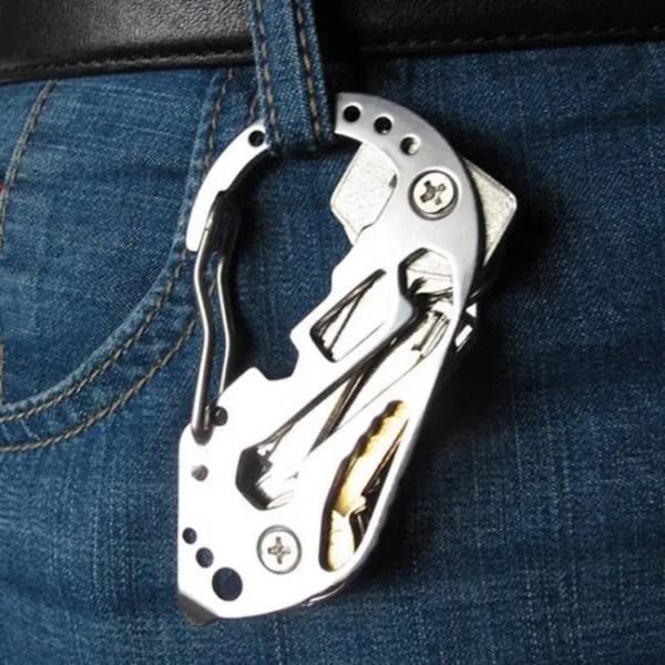 FREE SHIPPING Multifunction EDC tool stainless steel Key Holder Organizer Clip Folder Keyring Keychain Case Outdoor Survival travel tool Case