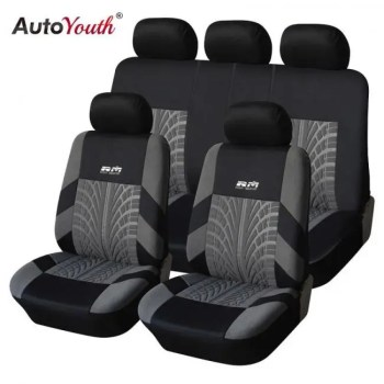 FREE SHIPPING AUTOYOUTH Hot Sale 9PCS and 4PCS Universal Car Seat Cover Fit Most Cars with Tire Track Detail Car Styling Car Seat Protector Auto