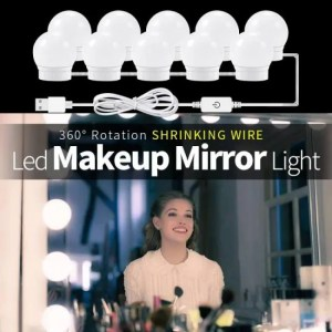 FREE SHIPPING CanLing USB LED 12V Makeup Lamp 6 10 14 Bulbs Kit For Dressing Table Stepless Dimmable Hollywood Vanity Mirror Light 12W 16W 20W Bedroom