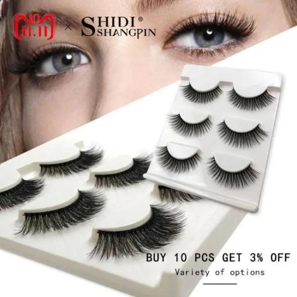 FREE SHIPPING New 3 pairs natural false eyelashes fake lashes long makeup 3d mink lashes extension eyelash mink eyelashes for beauty #X11 discount