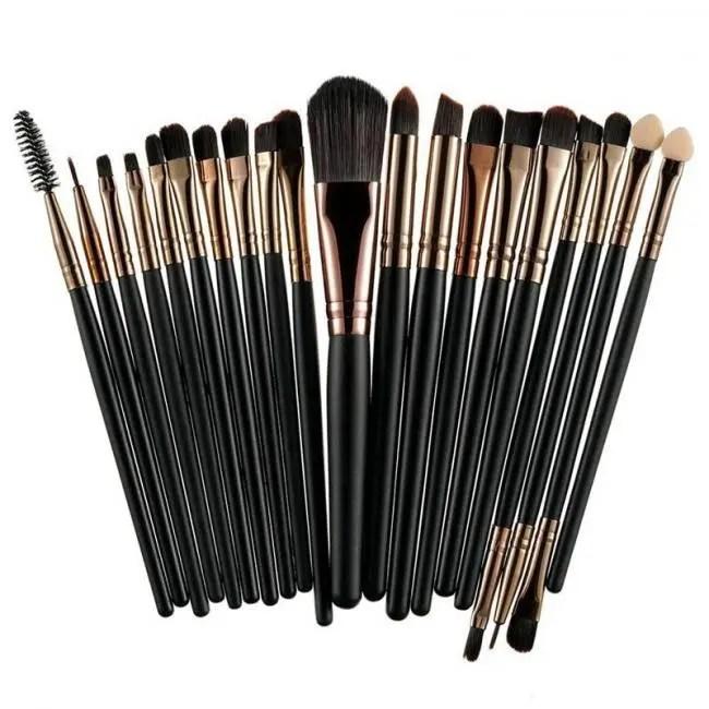 FREE SHIPPING ROSALIND 20Pcs Professional Makeup Brushes Set Powder Foundation Eyeshadow Make Up Brushes Cosmetics Soft