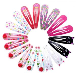 FREE SHIPPING 18pcs 5cm Hairpins Snap Hair Clips for Children Girls Hair Accessories Baby Cute Hair Clip Pins Cat Color Metal Printed Barrette discount