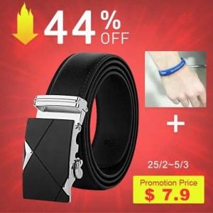 FREE SHIPPING [DWTS]Belt Male Genuine Leather Strap Belts For Men Top Quality Automatic Buckle black Belts Cummerbunds cinturon hombre Free shipping