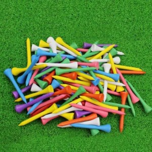 FREE SHIPPING CRESTGOLF 2-1/8 Inches 54mm Wooden Golf Tees Golf Wood Tees 100pcs/pack discount