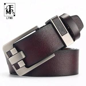 FREE SHIPPING LFMB belt male leather belt men strap male genuine leather luxury pin buckle belts for men belt Free shipping
