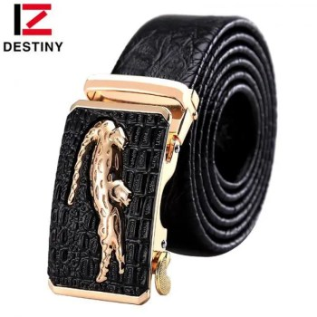FREE SHIPPING DESTINY Designer Belts Men High Quality Male Genuine Leather Strap Luxury Famous Brand Logo Crocodile Silver Gold Ceinture Homme Free shipping