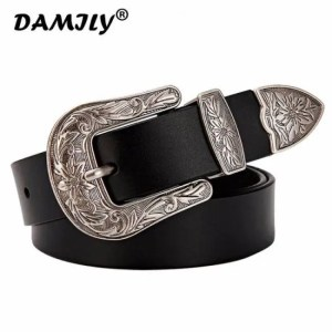 FREE SHIPPING Carved Vintage Metal Pin Buckle Women Belts High Quality Strap Brand Genuine Leather Belt For Woman Designer Design Jeans Belt