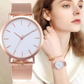 FREE SHIPPING Women Watches Bayan Kol Saati Fashion Rose Gold Silver Luxury Ladies Watch For Women reloj mujer saat relogio zegarek damski [tag]