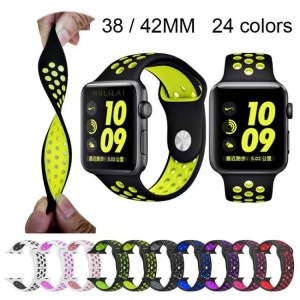 FREE SHIPPING Silicone strap for Apple Watch Band 42mm Bracelet 40mm 44mm for Apple Watch Strap Rubber iwatch band 4/3/2 38MM Sport Wristbands [tag]