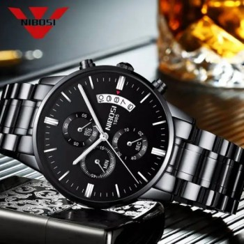 FREE SHIPPING NIBOSI Relogio Masculino Men Watches Luxury Famous Top Brand Men's Fashion Casual Dress Watch Military Quartz Wristwatches Saat [tag]