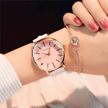 FREE SHIPPING Polygonal dial design women watches luxury fashion dress quartz watch ulzzang popular brand white ladies leather wristwatch [tag]