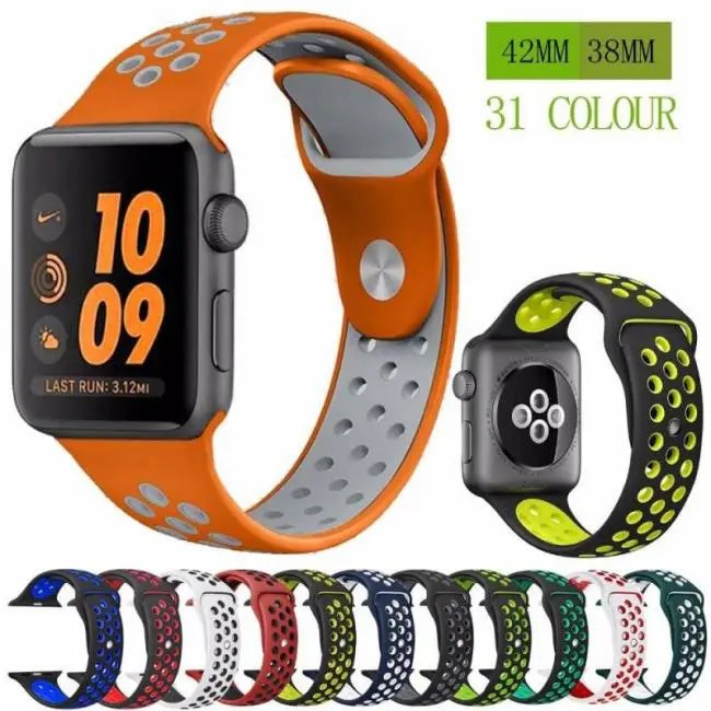 485f6f2f1b2 Silicone strap band for Nike apple watch series 4 3 2 1 42mm 38mm ...
