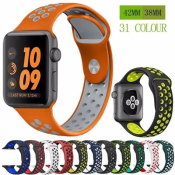 FREE SHIPPING Silicone strap band for Nike apple watch series 4/3/2/1 42mm 38mm rubber wrist bracelet adapter iwatch 40/44mm Apple watch band [tag]