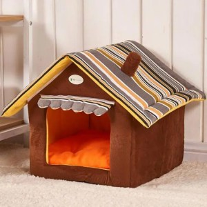 FREE SHIPPING New Fashion Striped Removable Cover Mat Dog Cat House Bed For Small Medium Pets Medium