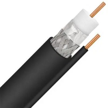 Coaxial Coax RG6 Solid Copper, Single, CCS Ground-1000 Ft DTV Black or White [tag]