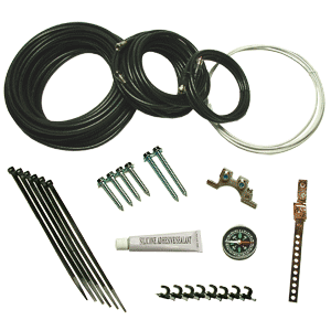 Coaxial DIY Self Install installation Kit for free to air DirecTV Dish Satellite System bolys