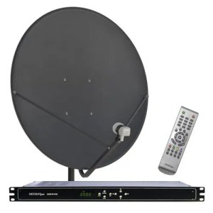 Receiver GEOSATpro system commercial downlink with DSR-R100 rack mount receiver XLR balanced audio / 90cm dish bnc