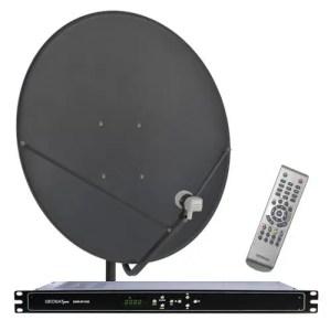 Receiver GEOSATpro system commercial downlink with DSR-R100 rack mount receiver XLR balanced audio / 90cm dish bnc