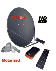 "Motorized 36"" Dish Offset KU Band Satellite Dish Antenna SatHawk"