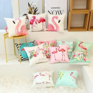 FREE SHIPPING Cute Flamingo Cushion Pillow Case Flamingo Party Bedroom Sofa Home Decoration accessories Birthday/Wedding Favors and Gifts Accessories
