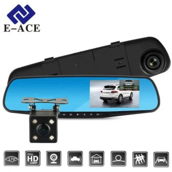 FREE SHIPPING Full HD 1080P Car DVR Camera Auto 4.3 Inch Rearview Mirror Digital Video Recorder Dual Lens Camcorder [tag]