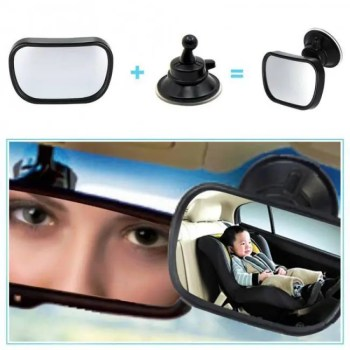 FREE SHIPPING 2 in 1 Mini Safety Car Back Seat Baby View Mirror Adjustable Baby Rear Convex Mirror Car Baby Kids Monitor [tag]