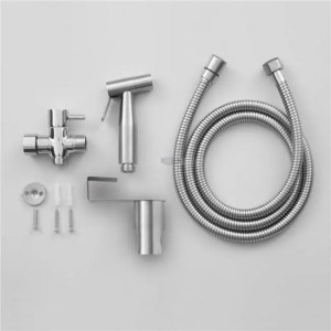 FREE SHIPPING Handheld Toilet bidet sprayer set Kit Stainless Steel Hand Bidet faucet for Bathroom hand sprayer shower head self cleaning bathroom
