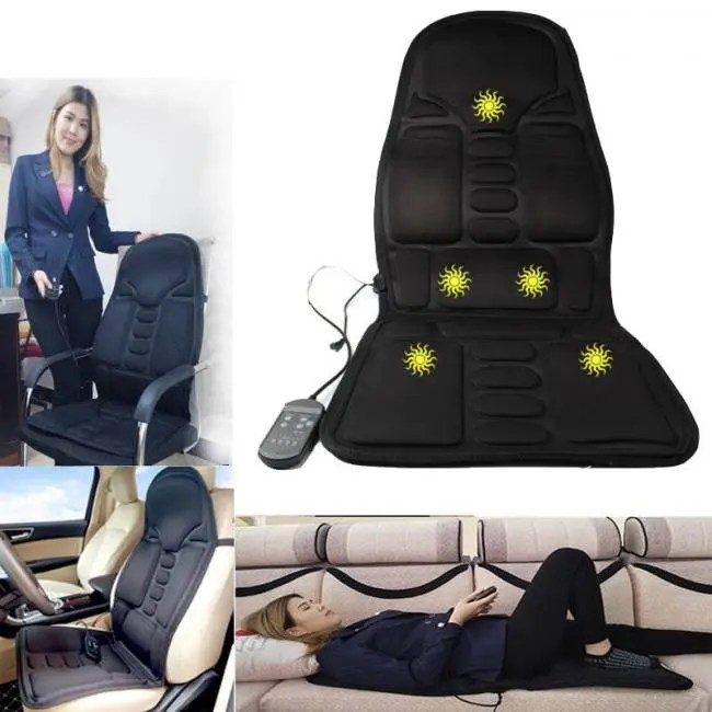 Beauty & Health Massage & Relaxation Electric Car Seat Massager Heating Massage Back Neck Waist Relieve Fatigue Pain Home Office Chair Massage Cushion Body Relax