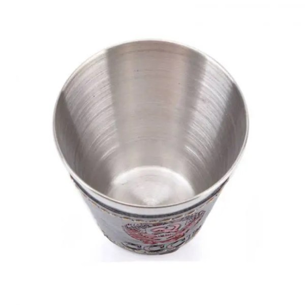 FREE SHIPPING 70ml Outdoor Camping Cups Set Stainless Steel Wine Beer Cup Whiskey Mugs PU Leather 4pcslot