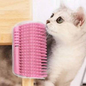 FREE SHIPPING Pet Products For Cats Brush Corner Cat Massage Self Groomer Comb Brush Cat Rubs the Face with a Tickling Comb Cat Product Brush