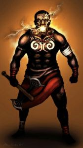 North Node, Sango most skilled warrior. Orisa of lightning, drums, and dance. Sango teaches action i