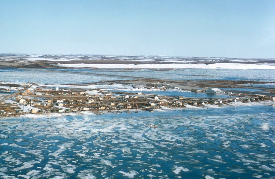 Aerial view of Kotzebue, Alaska. Although not within the Selawik NWR boundary, Kotzebue is home of the Selawik NWR office. | Photo: U.S. FISH AND WILDLIFE SERVICE